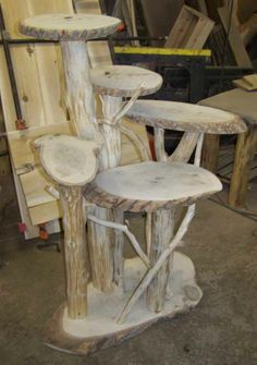 how to make pine log furniture - Google Search