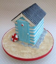 Image Detail for - British Beach Hut - by RockCakes @ CakesDecor.com - cake decorating ...