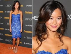 Jamie Chung In Oliver Tolentino – Entertainment Weekly Pre-Emmy Party