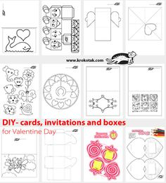 DIY- cards, invitations and boxes for Valentine Day