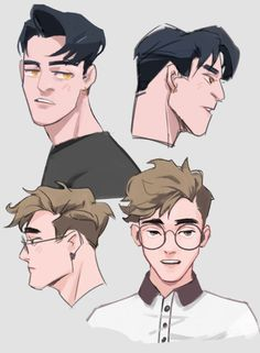 character design male Drawings - Martha M. Character Design Tutorial, Character Design Girl, Character Design Animation, Character Design References, Hair Reference, Art Reference Poses, Character Sheet, Character Art, Character Concept