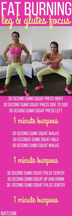Fat burning booty workout! Are you in? Sumo squat it out with me! For more of my best at home body weight workouts click the image!