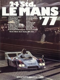 The 2014 round of the 24 Hours of Le Mans starts next weekend, and it will bring Porsche& return to the legendary track. While I haven& seen their latest poster yet, in the meantime, here are the ones from 1970 to Porsche 935, Porsche Carrera, Porsche Cars, 24 Hours Le Mans, Le Mans 24, La Mans, Porsche Classic, Vintage Racing, Vintage Cars