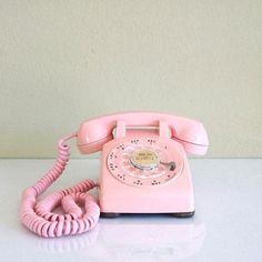 1959 Pink Dial Desk Phone
