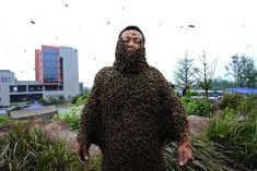 This beekeeper is actually covered in 331,000 bees. Bee-lieve it!  21 Unbelievable Photos That Are Not Photoshopped