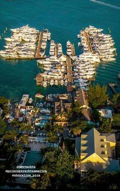 Princess Yachts at Valentines #Bahamas #Boating Best Hotels, Amazing Hotels, Amazing Places, Beautiful Places, Travel Images, Travel Photos, Travel Pictures, Harbour Island Bahamas, Caribbean Vacations