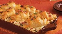Stuffed Crescent Chicken Cobbler   REMEMBER to LIKE COMMENT SHARE to continue seeing my posts!  Ingredients  2 cups frozen southern-style diced hash brown potatoes (from 32-oz bag) thawed  1  cups milk  1 can (10  oz) condensed cream of chicken soup  1 can (12 oz) Pillsbury Grands! Big & Flaky refrigerated crescent dinner rolls  2  cups shredded deli rotisserie chicken (from 2-lb chicken)  2 cups shredded Cheddar cheese (8 oz)  8 slices bacon crisply cooked crumbled   cup sliced green…