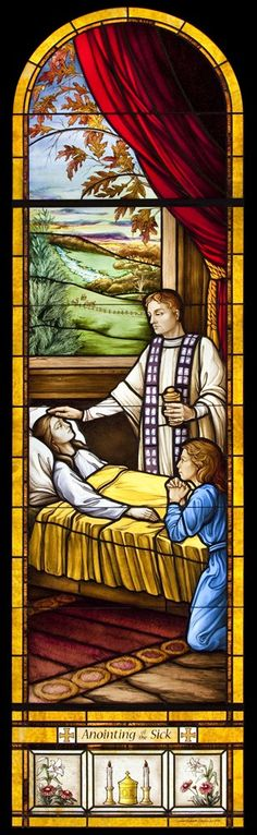New Anointing of the Sick window for Holy Redeemer