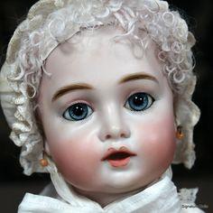 Superb Circle Dot Bru Artist Doll in Antique Clothing