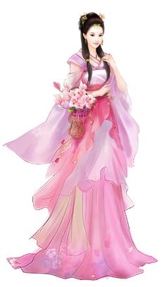 【冰偌收集】手绘免抠人物素材之四 - 冰偌 - 音画 素材 博客 Asian Woman, Asian Girl, Beautiful Fantasy Art, Princess Outfits, China Art, Chinese Culture, Fantasy Girl, Chinese Style, Japanese Art