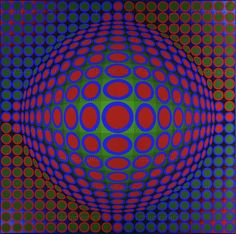 CONSTRUCTIVISM PAINTING 20TH  Victor Vasarely