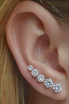 Ear Pin Ooh La La MINI Sterling Silver/Gold by ChapmanJewelry, $96.00