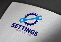 Gear Settings Logo by Esse Logo Studio on Creative Market