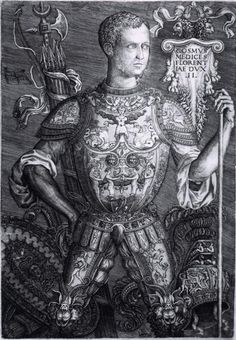 Cosimo de Medici in parade armour 1544