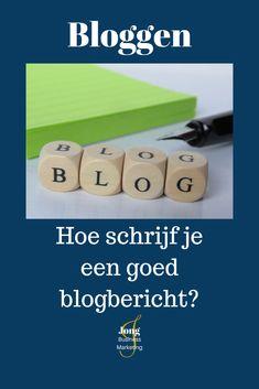 Je bent begonnen met jouw eigen nieuwe blog. Heel spannend allemaal, maar hoe schrijf je nu eigenlijk een goede blog?  Een blog die veel lezers trekt, waar lezers op reageren en waar jij een goed gevoel bij hebt zodra je hem online zet. Business Marketing, Social Media Marketing, Blogging For Beginners, Company Logo, Tips, Advice