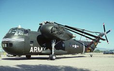 Sikorsky CH-37 Mojave.  This is the very one I was the flight engineer on 66-69 in Illsheim and later we moved the company to Hanau Germany. 90th Aviation Company. I named it Tired Dude and it is in the Pima Air Museum in Tucson,AZ.