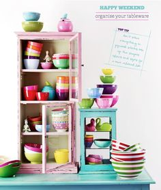 Happy Weekend: Organise Your Tableware