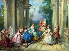el cuatro siglos  todaclasede  hombre  -   la infancia  de Nicolas Lancret (1690-1743, France)