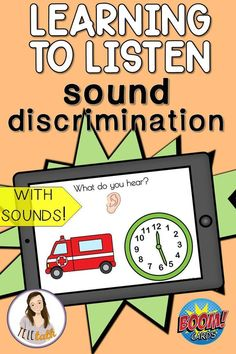 Learning To Listen Sound Discrimination BOOM Cards The Learning To Listen sounds are a key part of intervention for young children who utilize cochlear implants and hearing aids to teach language and auditory skills. This no prep resource Articulation Therapy, Speech Therapy Activities, Language Activities, Speech Language Pathology, Speech And Language, Cochlear Implants, Hearing Aids, Young Children, Teaching