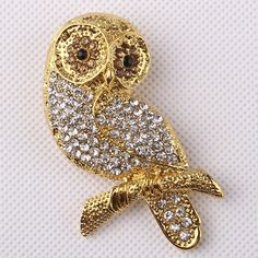 Find More Brooches Information about 37*63mm handmade night owl animal vintage brooch color rhinestone brooches for women diy Fashion Jewelry breastpin brooch pins,High Quality brooch set,China brooch cameo Suppliers, Cheap brooches swarovski from Playful beauty department store on Aliexpress.com