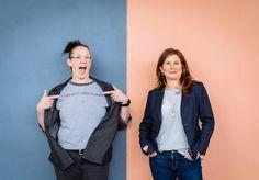 Anne Cooper and Tina Wendel Melbourne Coffee, Women Empowerment, Vest, Portraits, Denim, Jackets, Fashion, Down Jackets, Moda