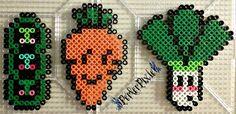 Cute Veggies  perler beads by PerlerPixie