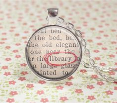Librarian Necklace - Librarian Gift - Library - Reader - Librarian Jewelry - Bookaholic - Bookish Jewelry - Bookworm (B0558) by PaperHeartDaily on Etsy