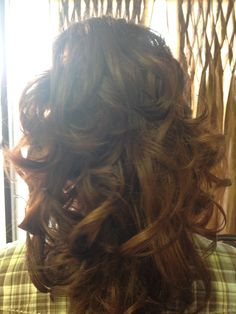 My Pageant hair - back
