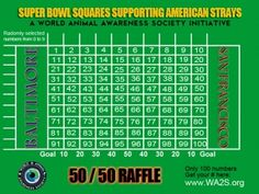 100 Square Football Board | Super Bowl Football Squares Template Football Squares Template, Superbowl Squares, Super Bowl Xlvii, Film Studies, Animals Of The World, Puppies, Board, Games, Craft