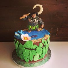 Gateau d'anniversaire Maui du beau dessin animé Vaiana  #moana #moanacake #vaiana #maui #birthdaycake #cakedesign