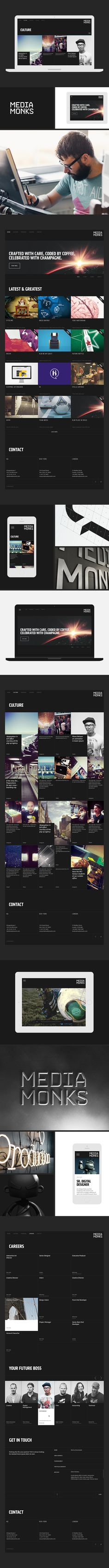 MediaMonks Website on Behance