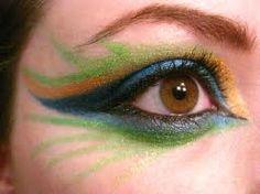 Peacock make up Cute Makeup, Simple Makeup, Beauty Makeup, Hair Makeup, Crazy Makeup, Beauty Tips, Peacock Eye Makeup, Dramatic Eye Makeup, Makeup Brush Case