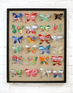 soda can butterflies
