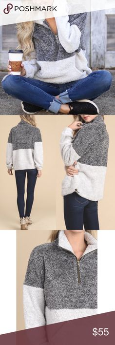 GEORGIA Fuzzy Sweater - CHARCOAL PRE-ORDER; JANUARY 15TH  You won't want to take this beauty off!  So so soft.     Fits true to size    NO TRADE, PRICE FIRM Bellanblue Sweaters