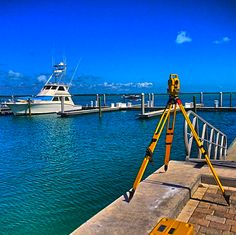 @aaronr6 is doing it right... Here he's setting up control for a new resort project in Bimini, Bahamas. #surveylife