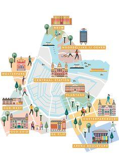 IAMSTERDAM Neighborhoods guide maps by Saskia Rasink