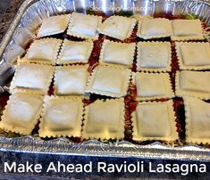 Make Ahead Ravioli Lasagna is the BEST oven ready freezer meal EVER! Kids will love it!