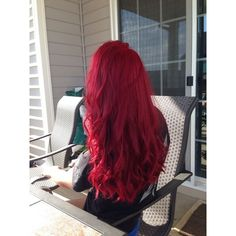 Best Candy Apple Pale Red Hair Dye   RASPBERRY Pink Hair Dye -... ❤ liked on Polyvore featuring beauty products, haircare and hair color