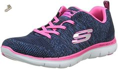Skechers Flex Appeal 2.0 High Energy Womens Sneakers Navy/Hot Pink 9.5 - Skechers sneakers for women (*Amazon Partner-Link)