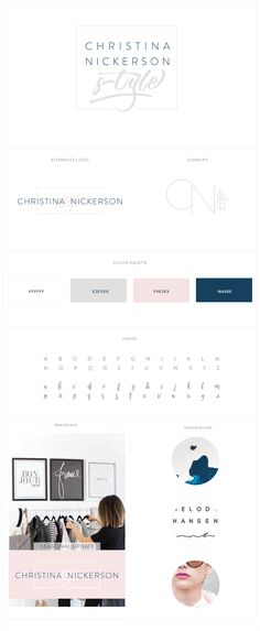 brand board | Christina Nickerson Style | Vermillion Designs