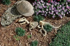 """""""Illinois based design company, Design Toscano, create unusual garden ornaments from zombies to dinosaurs instead of ordinary garden gnomes."""""""