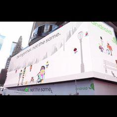 2,5 millones de dólares se ha gastado Google en una valla interactiva en el Times Square neoyorkino