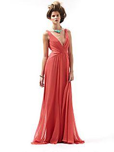 Badgley Mischka - Silk V-Back Gown