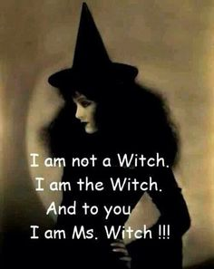 *Take Notes* you can not hex a real witch. all witches know this. a real witch is always protected. only thing one can do is physically try. Witch Quotes, Life Quotes, Funny Quotes, Daily Quotes, Season Of The Witch, Wicked Witch, Religion, Coven, Samhain