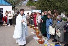 Ukrainian Easter Blessing of the Breads and Easter food