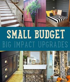 Small Budget Big Impact Upgrades by DIY Ready at  http://diyready.com/small-budget-big-impact-upgrades/