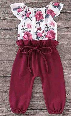 2387ce2e45d9 Amazon.com  2019 Baby Girl Romper Leegor Infant Kids Floral Short Sleeve  Bow Pant Bodysuit Jumpsuit Sunsuit Overalls  Clothing