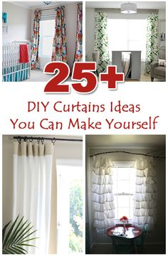 25+ DIY Curtains Ideas You Can Make Yourself