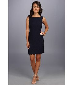 Adrianna Papell Sleeveless Dress Navy - Zappos.com Free Shipping BOTH Ways