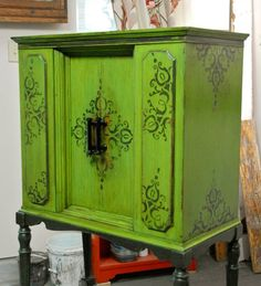 Furniture redo -  love the color and a great idea too! Lighten the color a bit with chocolate brown accents !